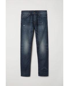 Slim Straight Jeans Donker Denimblauw