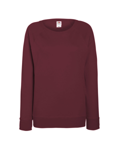 Fruit Of The Loom Ladies Fitted Lightweight Raglan Sweatshirt (240 Gsm)