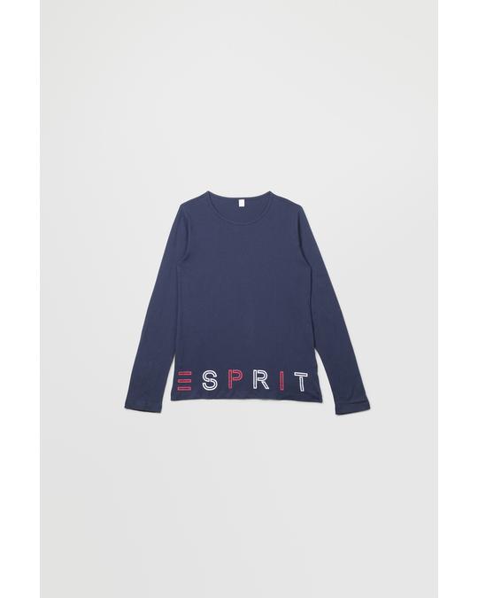 Esprit T-shirt Ls Perm 490-navy