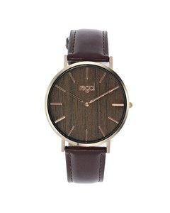 Regal Armbanduhr mit einem braunen Band