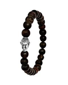 Stalen Armband Met Bronzonite Stenen Boeddha