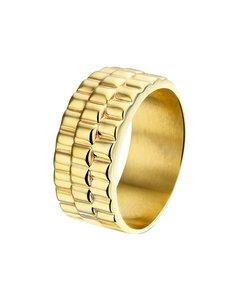 Vergoldeter Ring Rolexglied fix
