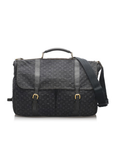 Louis Vuitton Monogram Mini Lin Denise Blue
