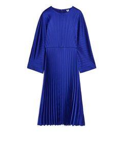 Pleated Dress Blue