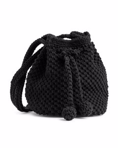 Crochet Bucket Bag Black