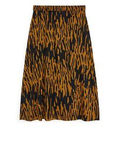 Wrap-style Jersey Skirt Yellow/black