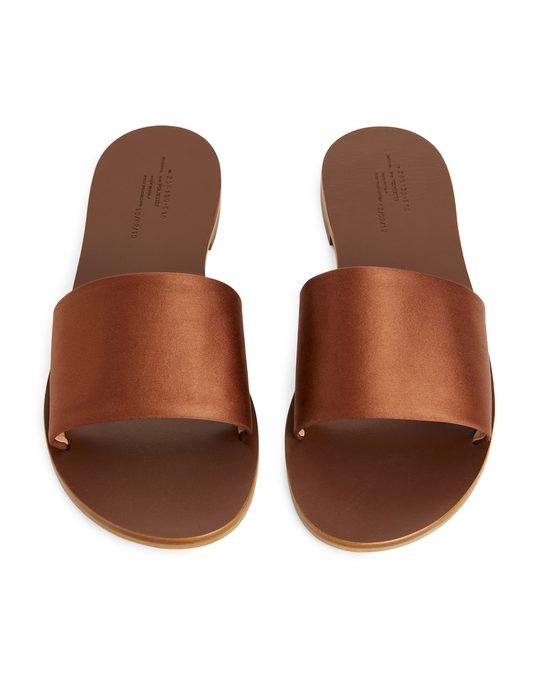 Arket Slide Sandals Beige