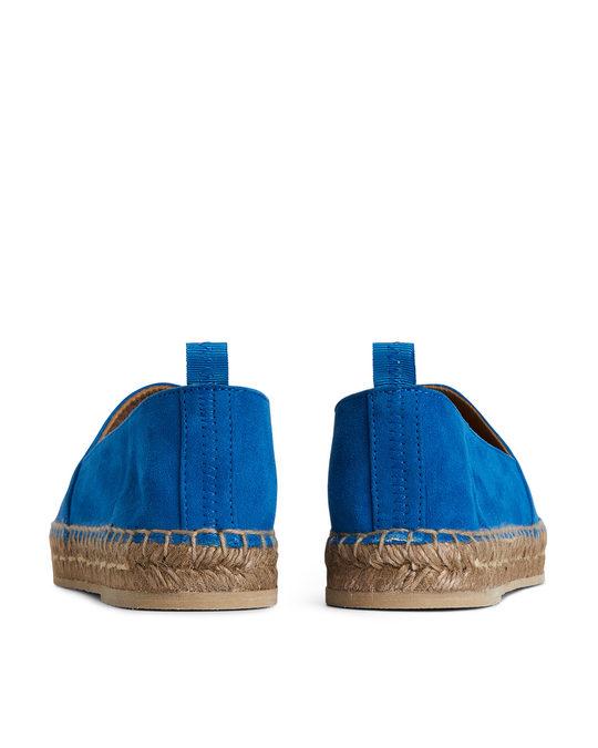 Arket Suede Espadrille Turquoise