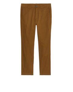 Lightweight Cotton Trousers Ochre