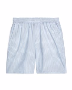 Loose-fit Striped Shorts Blue/white