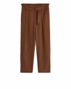 Relaxed Lyocell Trousers Terracotta Brown