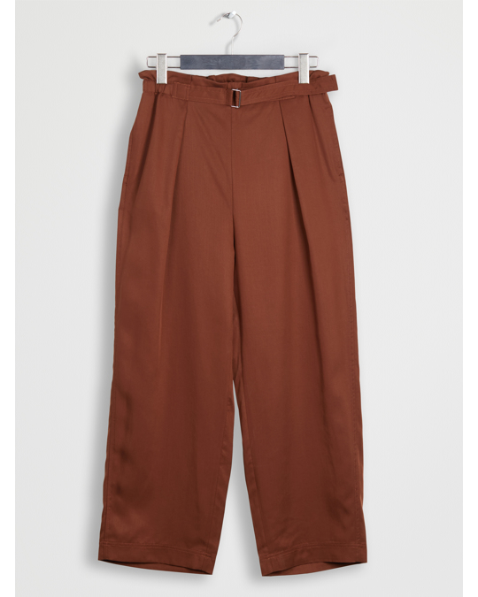 Arket Relaxed Lyocell Trousers Terracotta Brown