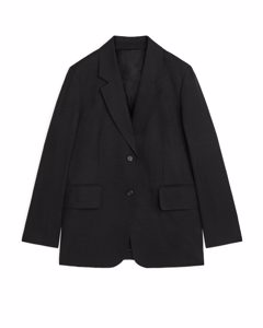 Fluid Viscose Blend Blazer Black