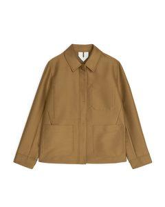 Jacke im Workwear-Stil Hellbraun