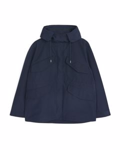 Funnel-neck Parka Dark Blue
