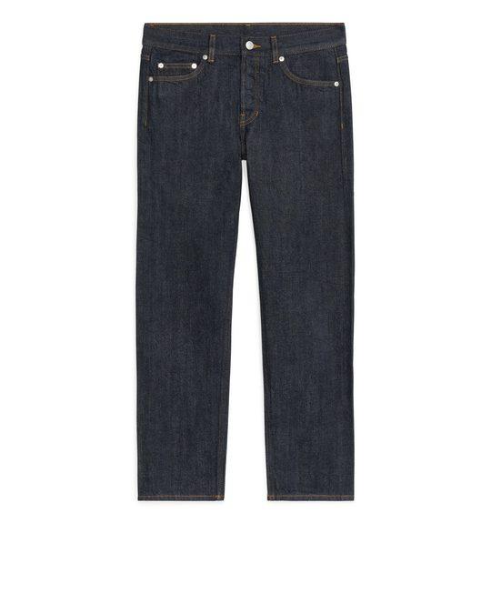 Arket REGULAR Cropped Selvedge Jeans Dark Blue