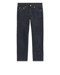 REGULAR Cropped Selvedge Jeans Dark Blue