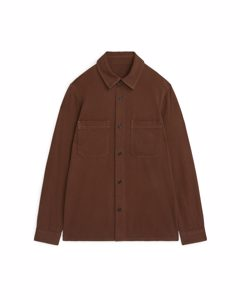 Cotton Twill Overshirt Brown