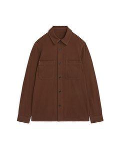 Cotton Twill Overshirt Brown