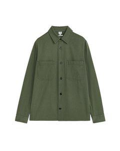 Cotton Twill Overshirt Green