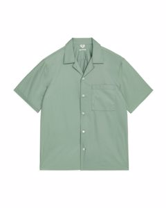 Poplin Resort Shirt Khaki Green