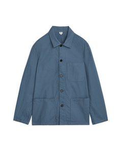 Workwear Cotton Overshirt Blue