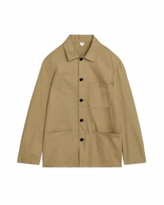 Workwear Cotton Overshirt Dark Beige