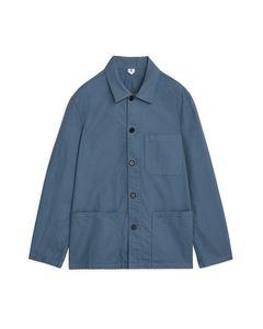 Workwear Baumwoll-Overshirt Blau