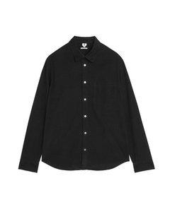 Shirt 5 aus Cord Schwarz