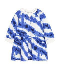 French Terry Dress Blue/tie Dye