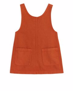 Twill Dress Dark Orange