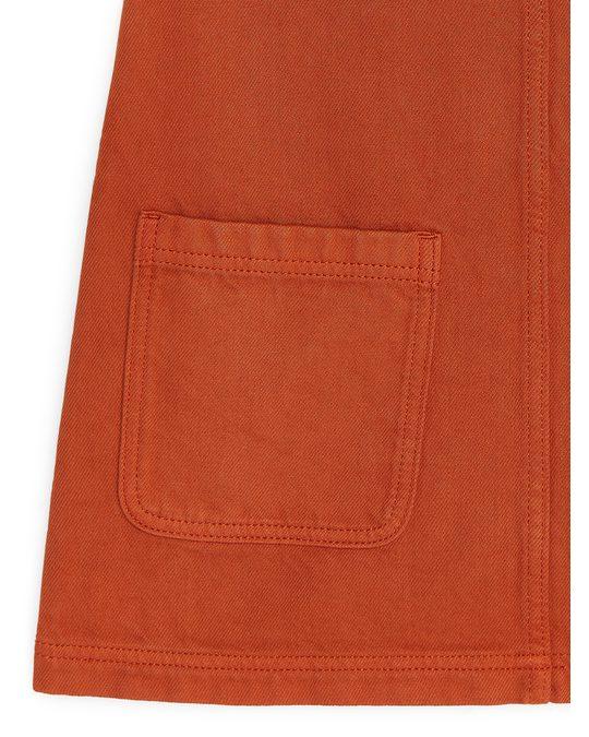 Arket Twill Dress Dark Orange