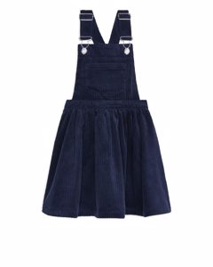 Corduroy Dungaree Dress Dark Blue