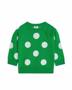 Jacquard-knit Jumper Green