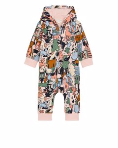 Artist Edition Hooded Overall Dusty Pink/multicolour