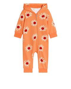 Hooded Overall Light Orange