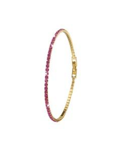 Goldplated Armband Fuchsia Crystals