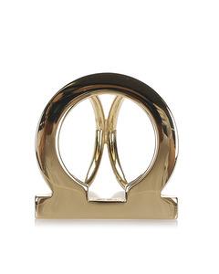 Ferragamo Gancini Scarf Ring Gold