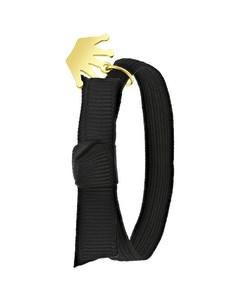 Elastisches Kinderarmband in Schwarz mit Kronen-Anhänger