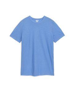 Eiskrepp-T-Shirt Mittelblau