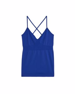 Seamless™ Yoga Cross-back Top Blue