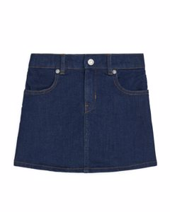 Denim Stretch Skirt Dark Blue