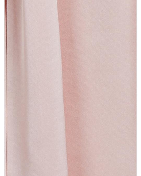 Arket Tie Neck Satin Blouse Light Pink