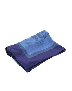 Hermes Ex Libris Silk Scarf Blue