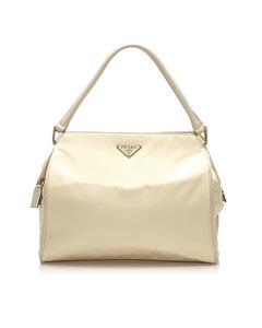 Prada Tessuto Shoulder Bag White