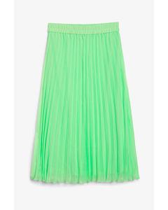 Laura Plissé Skirt Green