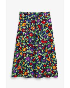 Tie-waist midi skirt Wild floral