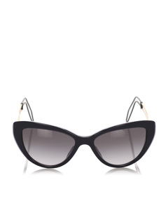 Miu Miu Cat Eye Tinted Sunglasses Black