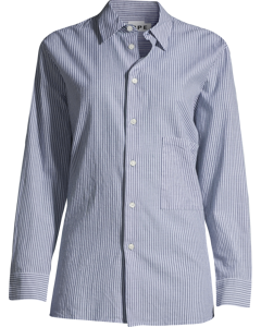 Elma Shirt C Dk Navy Stripe