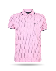 Pierre Cardin Dotted Polo Rosa